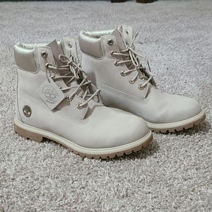 Light Grey Timberland Boots